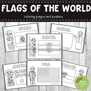 Flags of the World Coloring Pages and Posters