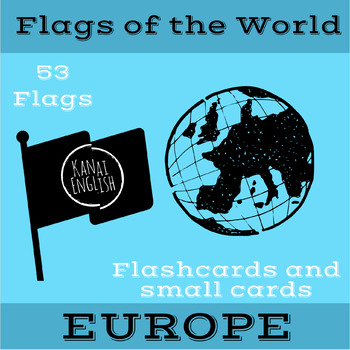 Flags of the World - Europe! Large and small card pack!