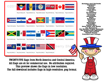Flags of the World: For Commercial and Personal Use  North America Central