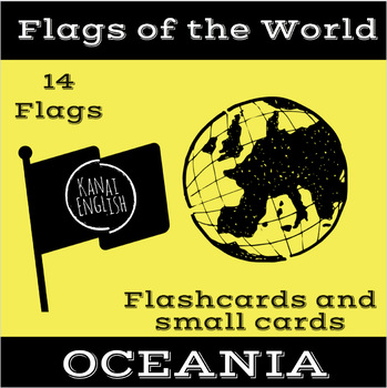 Flags of the World - Oceania Flashcards and Small Cards
