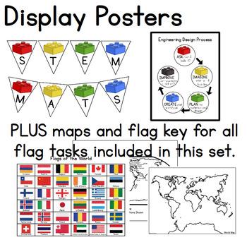 Flags of the World STEM Mats - STEM Center for Building Bricks
