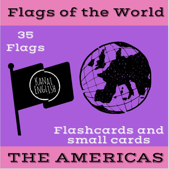 Flags of the World - The Americas Flashcard and small card set