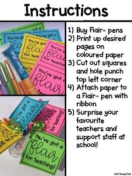 Flair Pen Teacher Gift