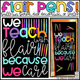 Flair Pens Back to School Bulletin Board, Door Decor, or Poster