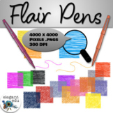 Flair Pens Design Kit | Digital Textures| Clip Art