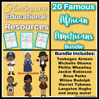 FlairSquare Famous African-Americans GROWING BUNDLE (Black History Month)