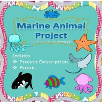 FlairSquare Marine Animal Project plus Rubric!