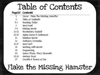 Flake, the Missing Hamster  1st Grade Harcourt Storytown Lesson 21