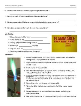 Flame Test Electron Configuration HS PS1-1