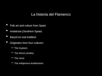 Flamenco 20-30 Min Lesson
