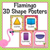 Flamingo 3D Shape Posters