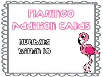 Flamingo Addition Cards