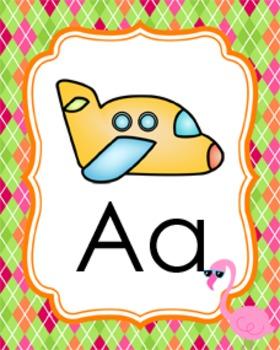 Flamingo Alphabet Posters A - Z