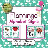 Flamingo Alphabet Signs