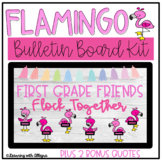 Flamingo Back to School Bulletin Board