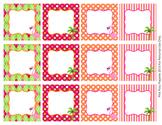 Flamingo Blank Calendar Number Tags Labels