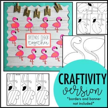 Flamingo Bulletin Board | Friendship Bulletin Board | Summer Bulletin Board