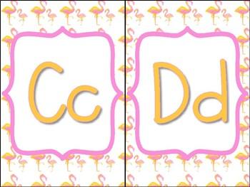 Flamingo Classroom Alphabet