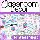 Flamingo Classroom Decor