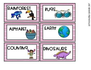 Flamingo Classroom Decor Book Bin Labels