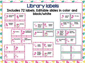 Flamingo Classroom Theme Bundle- Editable