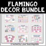 Flamingo Classroom Decor Bundle- Editable