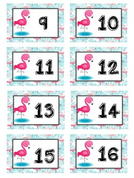 Flamingo Classroom Decor Bundle Beginning of the Year