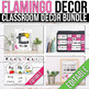 Flamingo Classroom Decor Bundle EDITABLE, Flamingo Themed Classroom
