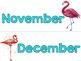 Flamingo Classroom Decor:   Calendar Headers