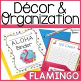 Flamingo Classroom Decor & Organization Bundle