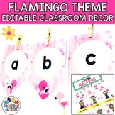 Flamingo Editable Classroom Decor Pack
