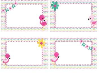 Flamingo Classroom Labels - Editable