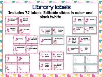 Flamingo Classroom Theme- Editable