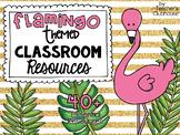 Flamingo Classroom Theme Decor Pack