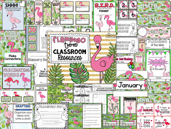 Flamingo Classroom Theme Decor Pack