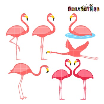 Flamingo Clip Art - Great for Art Class Projects!