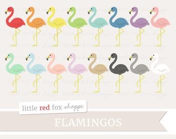 Flamingo Clipart; Animal, Bird