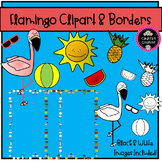 Flamingo Clipart and Borders