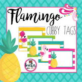 Editable Flamingo Cubby Labels