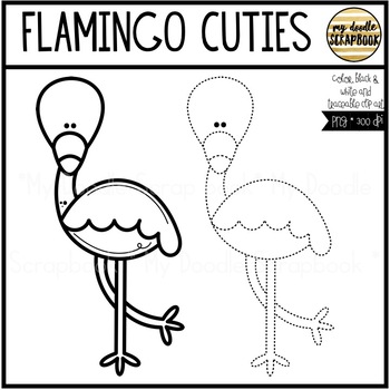 Flamingo Cuties (Clip Art for Personal & Commercial Use)