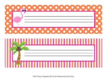 Flamingo Desk Name Plates