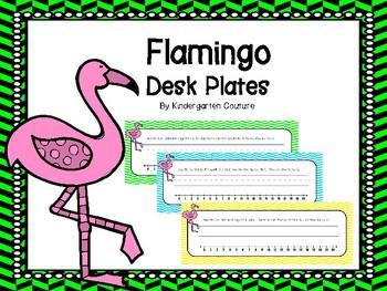 Flamingo Desk Plates