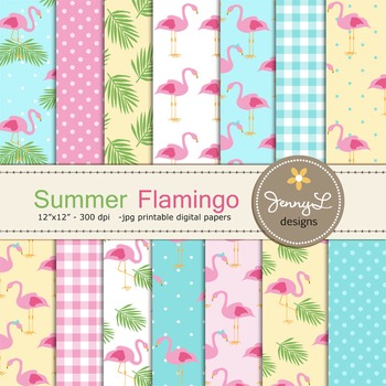 Flamingo Digital Paper