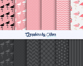 Flamingo Digital Papers