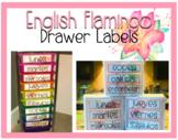 Flamingo Drawer Labels