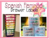 Flamingo Drawer Labels Spanish