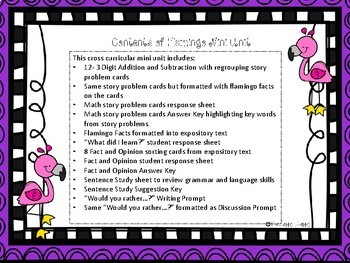 Flamingo Facts Cross Curricular Mini Unit