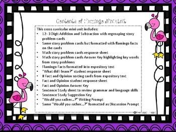 Flamingo Facts Cross Curricular Unit
