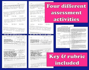 Flamingo Fractions + and – mixed numbers like denominators task cards/printables