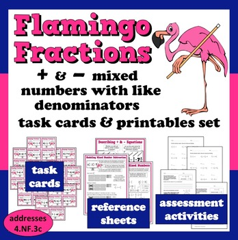 Flamingo Fractions + and – mixed numbers like denominators